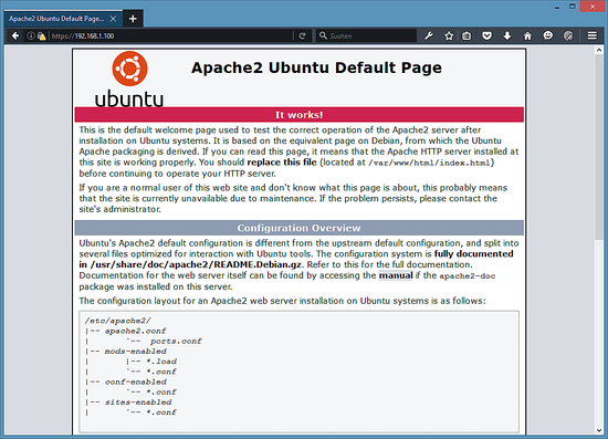 Installation der Serverrolle der Ubuntu-Lampe. Installieren und ...