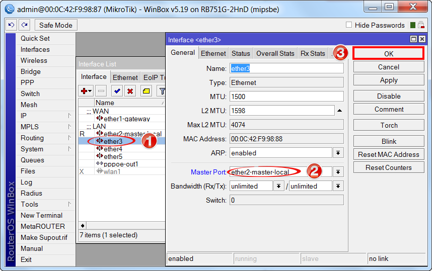 Configuring Mikrotik router: detailed manual